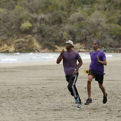 Darius & Cameron running to the <a href=