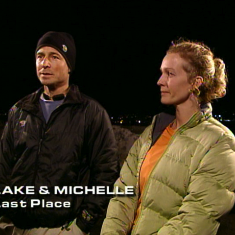 Lake & Michelle were eliminated from the race in 6th place after having navigational issues.