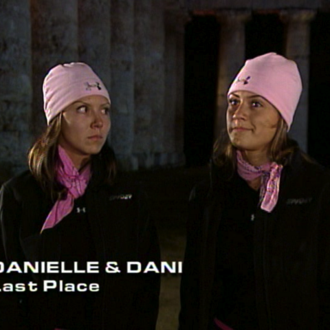 Danielle & Dani were eliminated from the race in 8th place.