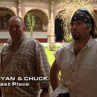 Ryan & Chuck were eliminated from the race in 11th place after losing in a footrace by mere seconds to <a href=