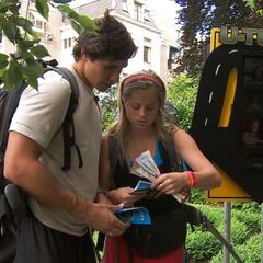 Trey & Lexi reading their next clue after using the second <a href=