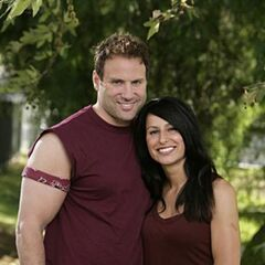 An alternate promotional photo of Lance & Keri for <i>The Amazing Race</i>.