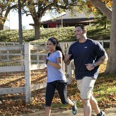 Vanessa &amp; Ralph running to the <a href=