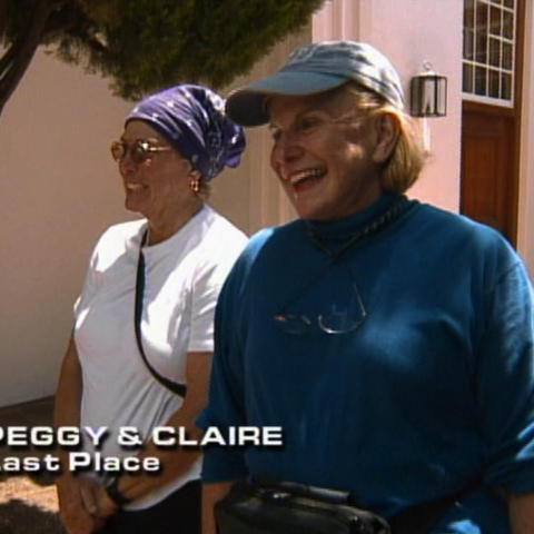 Peggy & Claire were eliminated from the race in 9th place after a flight issues.