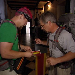 Gary & Matt read the clue for the Roadblock in the <a href=