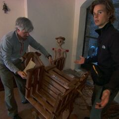 Dave & Connor doing the <i>Donkey Build</i> Detour as a result of being <a href=