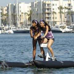 Jazmine & Danielle on the waterbikes.