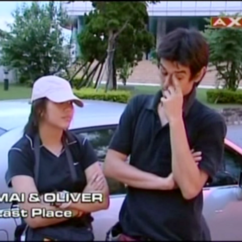Mai & Oliver were eliminated from the race in 6th Place after falling too far behind since the first task.
