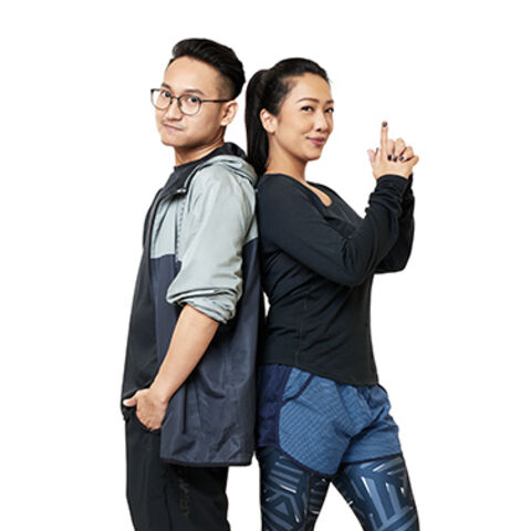An alternate promotional photo of Rach & Vicky for <i>The Amazing Race Asia</i>.