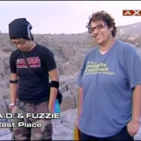 A.D. & Fuzzie were eliminated from the race in 4th Place.