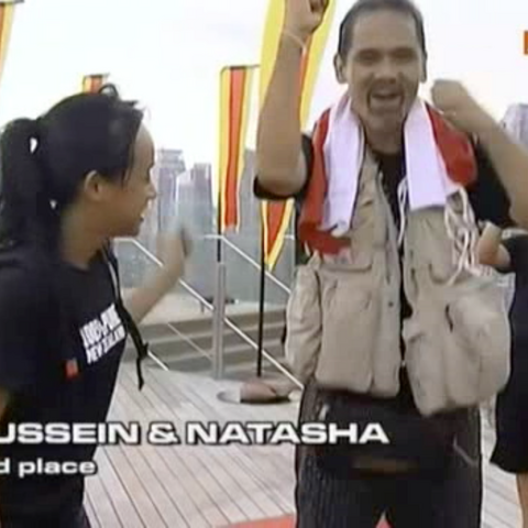 Hussein & Natasha finished the race in 3rd Place after quitting the final <a href=