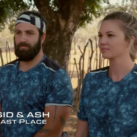 Sid & Ash are eliminated from the Race in 6th place.