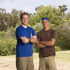Tim & Danny's alternate promotional photo for <i>The Amazing Race</i>.