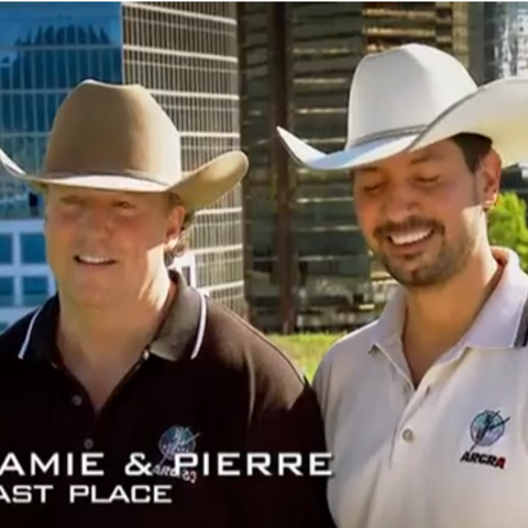 Jamie & Pierre were eliminated from the race in 8th place.
