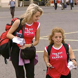 Charla & Mirna on a flight from Johannesburg, South Africa to Dar es Salaam, Tanzania in the sixth leg.