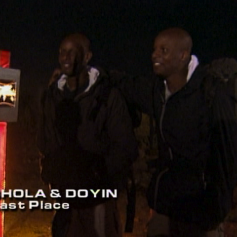 Shola & Doyin were eliminated from the race in 8th place.