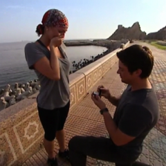 Chad proposes to Stephanie during the eighth leg.