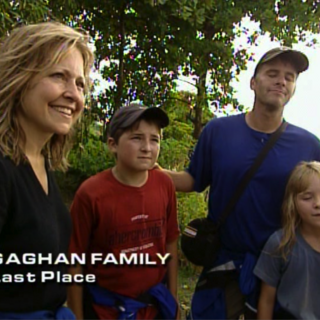 The Gaghans were eliminated from the race in 6th place.