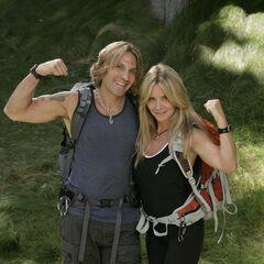 An alternate promotional photo of Eric & Lisa for <i>The Amazing Race</i>.