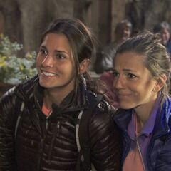 Nicky & Kim at the fifth leg's <a href=