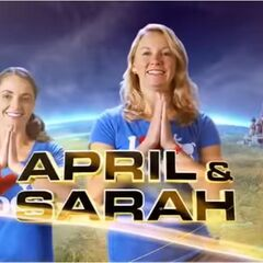 April & Sarah in the opening credits.