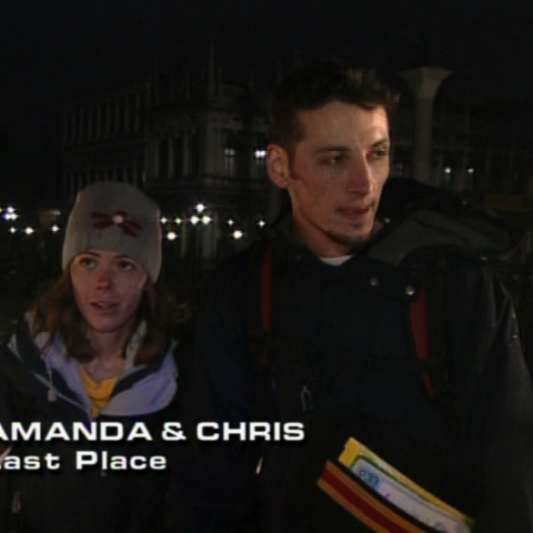 Amanda & Chris were eliminated from the race in 11th place.
