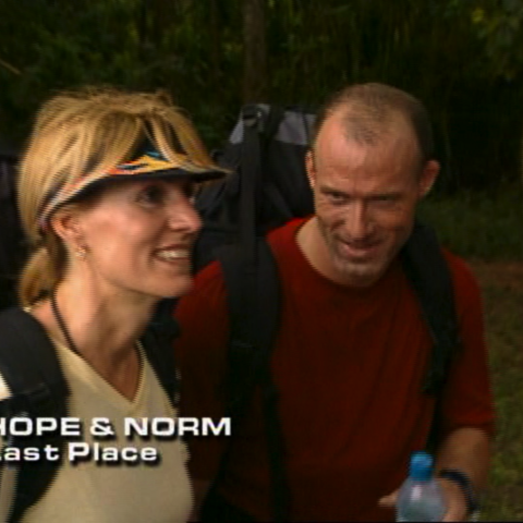Hope & Norm were eliminated from the race in 10th place.