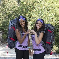 An alternate promotional photo of Jazmine &amp; Danielle for <i>The Amazing Race.</i>