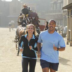 Nicole & Travis running to the <a href=