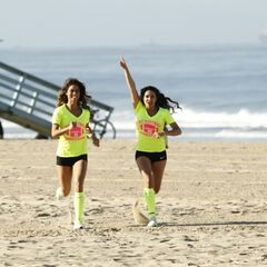 The Cheerleaders running to the <a href=