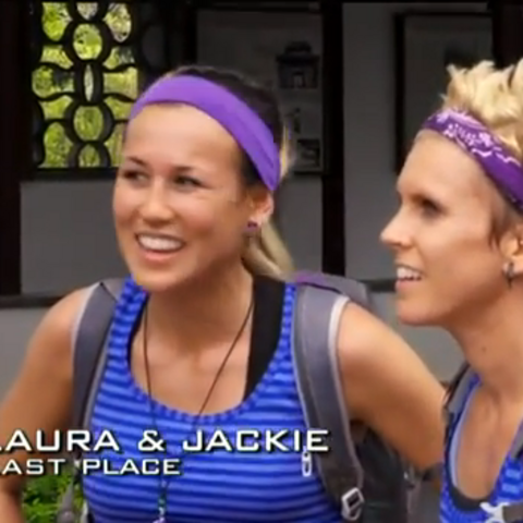 Laura & Jackie were eliminated from the race in 9th Place, becoming The Amazing Race Canada's first international elimination.