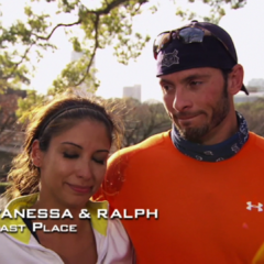 Vanessa & Ralph were eliminated from the race in 4th place.