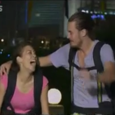 Charlie & Rachel winning <i>The Amazing Race: China Rush</i>.