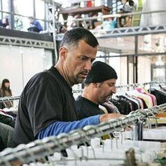 Louie & Michael looking for cloths matching a fashion designer's design during <a href=