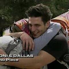 Toni & Dallas finish 2nd on Leg 3.
