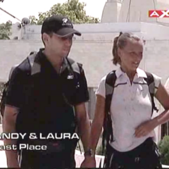 Andy & Laura were eliminated from the race in 5th place.