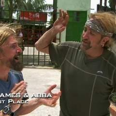James & Abba have came in first in the fifth leg.