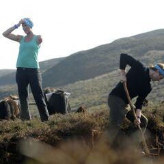 Adam & Bethany doing the <i>Pony Up</i> <a href=