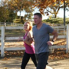 Rachel &amp; Dave running to the <a href=