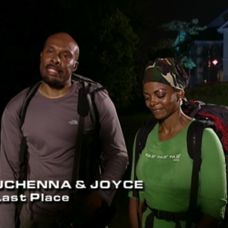Uchenna & Joyce were eliminated in 5th place having unable to recover from a missed flight connection.