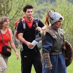 Toni & Dallas follow the Mongol warrior for their next clue on Leg 8.