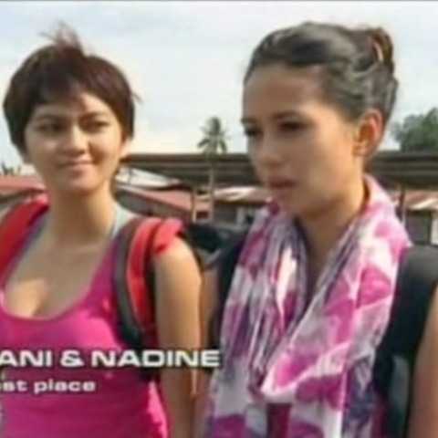 Nadine & Yani were eliminated from the race in 10th Place after a penalty.