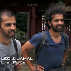 Leo & Jamal were eliminated from the race in 4th place after Leo floundered at the Roadblock.