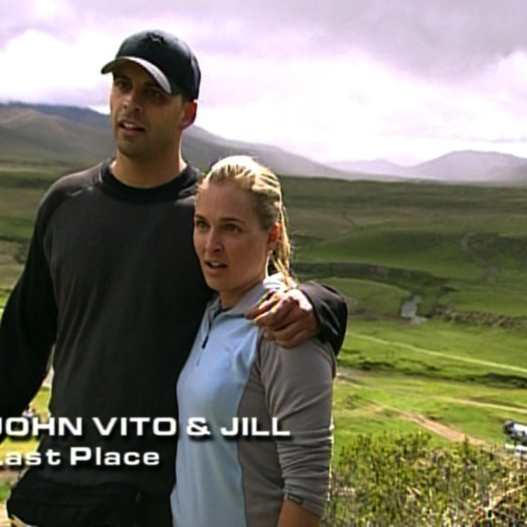 John Vito & Jill were eliminated from the race in 11th Place after being lost for hours.