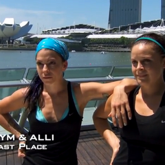 Kym & Alli were eliminated from the race in 5th Place having unable to recover from losing the Fast Forward.