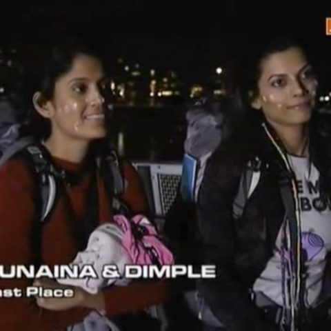 Dimple & Sunaina were eliminated from the race in 6th Place.