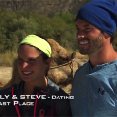 Aly & Steve were eliminated from the race in 6th Place after having been U-Turned by Laura & Tyler.