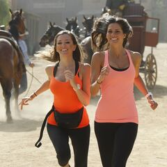 Nicky & Kim running to the <a href=
