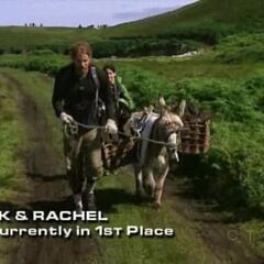 TK & Rachel performing the donkey task on <a href=