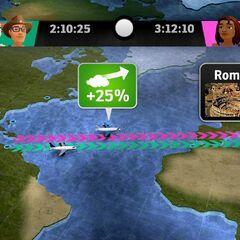 En route to Rome